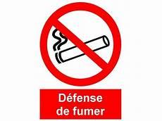 affiche défense de fumer interdiction signal defense de fumer et de vapoter