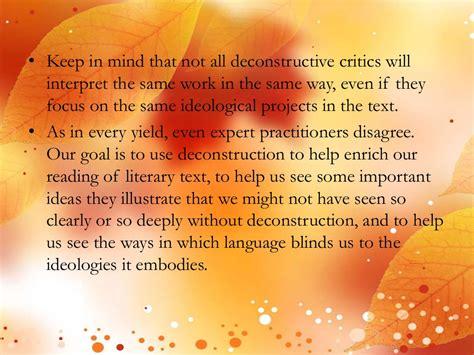 Deconstructivism Literature