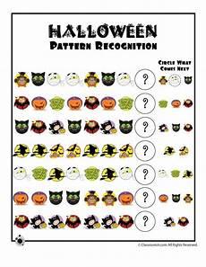 preschool worksheets for halloween halloween pattern recognition worksheet classroom jr