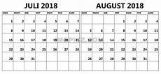 Kalender 2018 Juli - kalneder 2018 juli august best calendar 2019 template