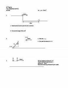 ap physics two dimensional motion worksheet by yancey