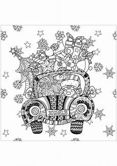 gifts in a car coloring pages