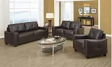 leather livingroom furniture brown bonded leather living room set from coaster