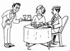 malvorlage kinder restaurant ehepaar im restaurant ausmalbild malvorlage essen und
