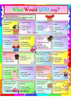 idioms what would you say worksheet free esl printable worksheets made by teachers esl