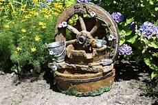 Garten Springbrunnen Aus Stein - 66cm brunnen holz stein optik wasserspiel springbrunnen