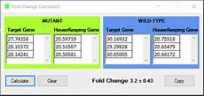 log fold change calculator fold change calculator
