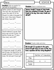 math word problem worksheets for 3rd grade 11413 this is a set of worksheets for the third grade math standard 3 oa d 8 which is quot solve two step