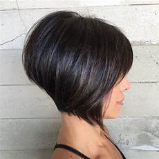 s short inverted bob with bangs and highlights