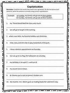 capitalization challenge 2 ccss for first grade l 1 2 a primary grades 2nd grade grammar