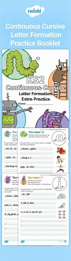 continuous cursive handwriting worksheets uk 21609 handwriting practice this fantastic collection of all of the twinkl handwriting