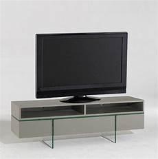 meuble tv avec niches et tiroirs couleur taupe mat