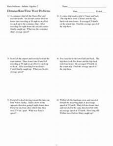 word problem worksheets 10th grade 11287 twelve distance rate time word problems 10th 11th grade worksheet lesson planet