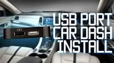 Usb Port Installed In Car Dash