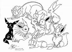 Malvorlagen Evoli All Eevee Evolutions Coloring Pages V 228 Rityskuva