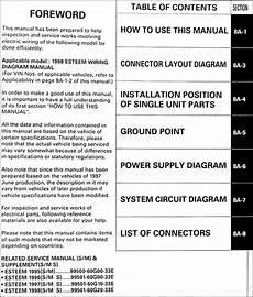 1998 suzuki esteem wiring diagrams 1998 suzuki esteem wiring diagram manual original