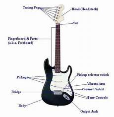 this diagram shows how the different parts to a guitar can change how it sounds however the