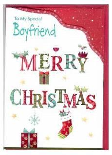 christmas boyfriend english greeting cards in