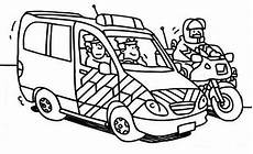 car and motorcycle coloring page color