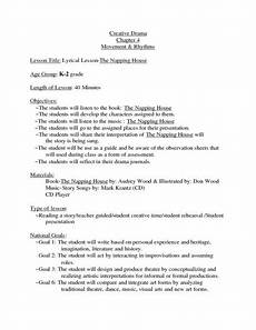 the napping house lesson plan creative drama the napping house lesson plan lesson