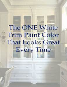 the one white trim color that works every time trim paint color painting trim white paint colors