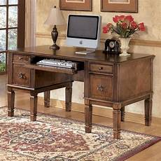 ashley furniture home office desks ashley furniture hamlyn office desk in medium brown h527 26