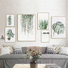tropical plants leaves canvas vintage poster wall art prints modern home decor ebay