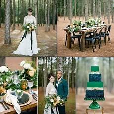 glamorous green gold woodland wedding inspiration chic