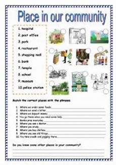 places in our community worksheets 15960 exercises our city