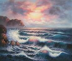 peinture mer sur toile tableau peint th 232 me marin