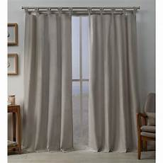 Tab Top Curtains by Exclusive Home Curtains Loha Linen Braided Tab Top Curtain