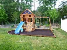 Aire De Jeux Enfant Avec Maison En Bois Aire De