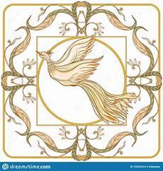 fiori liberty manifesto fondo con i fiori decorativi ed uccello nello