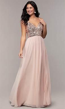 sequin bodice chiffon prom promgirl