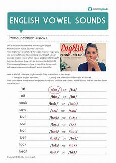 worksheet english vowel pronunciation mmmenglish