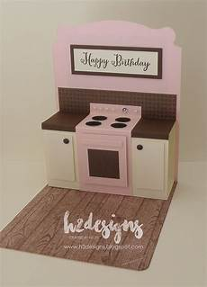 Pop Up Kitchen On by H2 Designs Cupcake Oven Pop Up Kitchen Card
