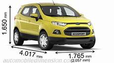 Ford Ecosport 2016 Dimensions Boot Space And Interior
