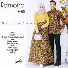 jual baju batik solo couple ramona lengan panjang kebaya hem pasangan bateeq murah di lapak