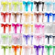 50 organza sash chaise housse noeuds pour mariage f 234 te