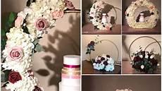 diy dollar tree hula hoops and pool noodles decor diy floral hoop cake stand diy wedding
