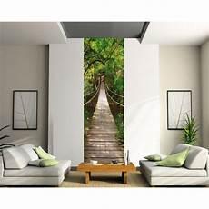 papier peint sticker mural sticker l 233 unique trompe l oeil pont suspendu papiers