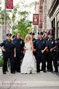 Cop Wedding Ideas getting photo taken with nyc wedding