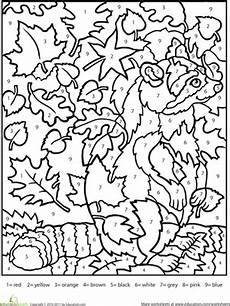 color by number fall coloring pages 18108 color by number raccoon color by numbers fall coloring pages fall coloring sheets