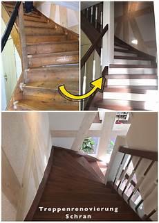 alte treppe mit laminatstufen renovieren treppe