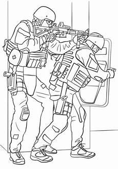 Ausmalbilder Polizei Swat Fbi Swat Team Coloring Page Free Printable Coloring Pages