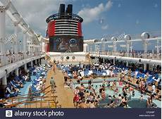 swimming pools and outdoor theater the disney cruise line s disney royalty free