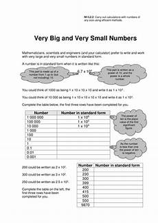 worksheets on writing numbers in standard form 21208 gcse standard form worksheets teaching resources