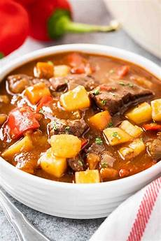 hungarian goulash easy authentic goulash recipe plated