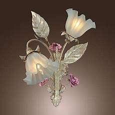 aliexpress com buy country style floral shape led wall ls wall sconce lights with glass