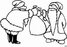 weihnachtsmaenner tauschen ausmalbild malvorlage gemischt
